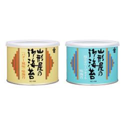 塩とオリーブオイル味海苔、<バター風味味海苔>